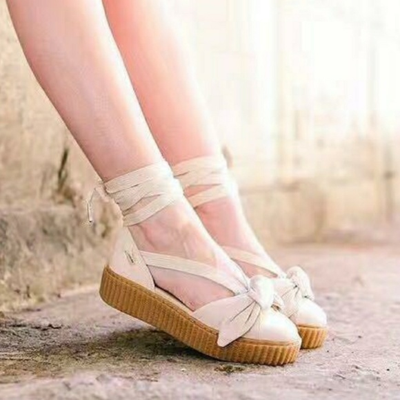 sports shoes 782d6 82808 PUMA X FENTY by Rihanna Bow Creeper Sandal